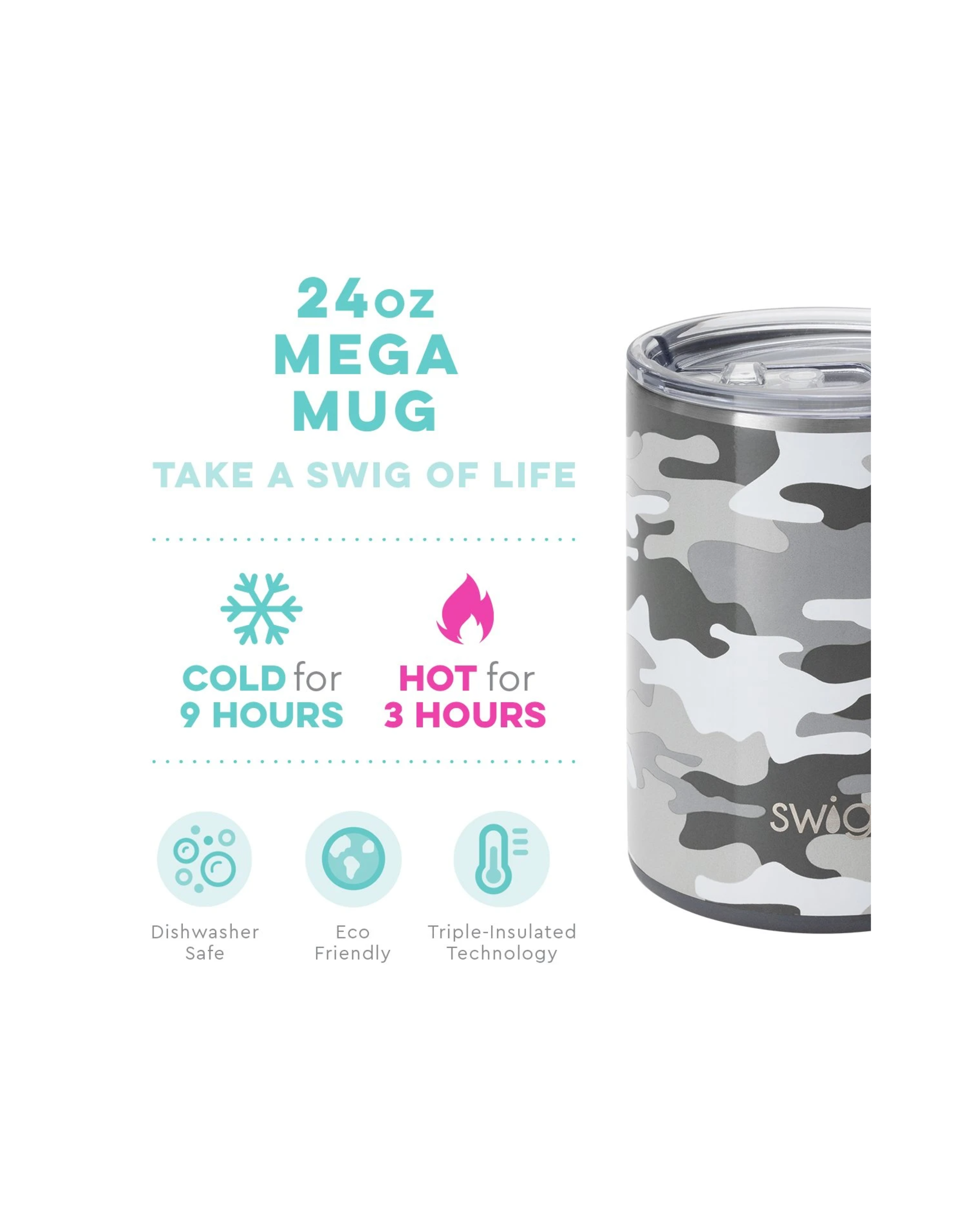 24oz Mega Mug - Incognito Camo