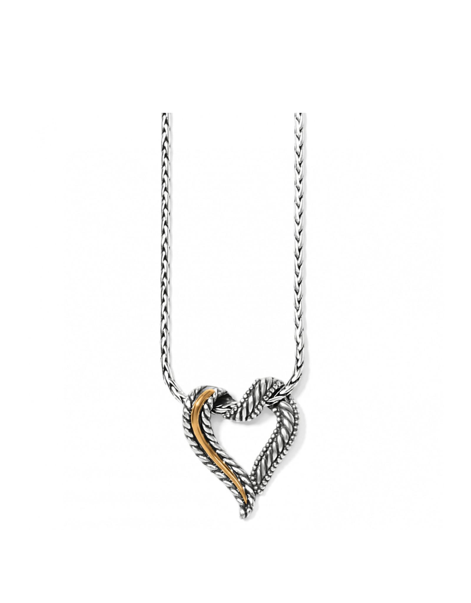 Brighton Callie 2-Tone Heart Necklace