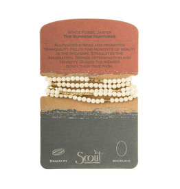 Scout Curated Wears Stone Wrap - White Fossil Jasper