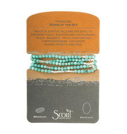 Scout Curated Wears Stone Wrap - Turquoise & Silver