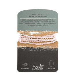 Scout Curated Wears Stone Wrap - Rose Quartz