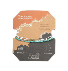 Scout Curated Wears Delicate Stone Bracelet - Turquoise & Silver