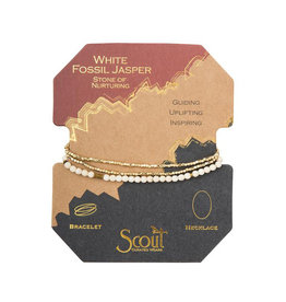 Scout Curated Wears Delicate Stone Bracelet - White Fossil