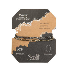 Scout Curated Wears Delicate Stone Bracelet - Pyrite