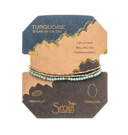 Scout Curated Wears Delicate Stone Bracelet - Turquoise & Gold