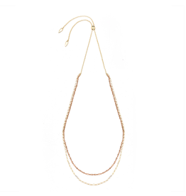 Natalie Wood Designs Bloom Adjustable Necklace - Gold & Rose Gold