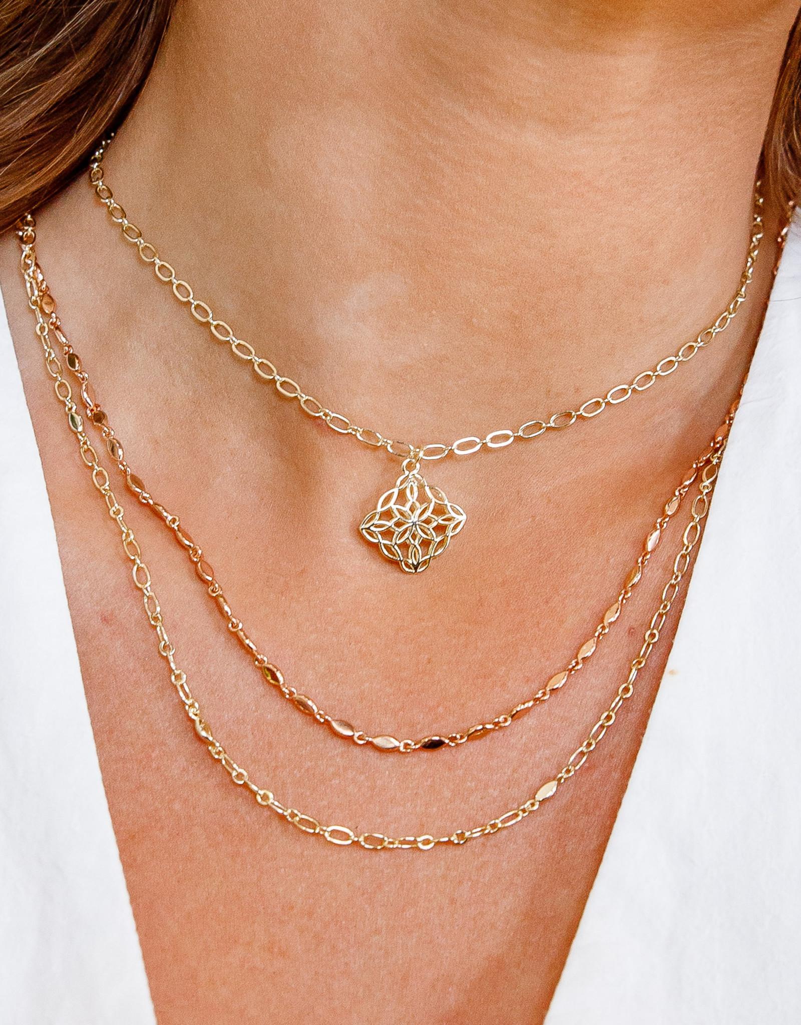 Natalie Wood Designs Bloom Adjustable Necklace - Gold & Rose Gold