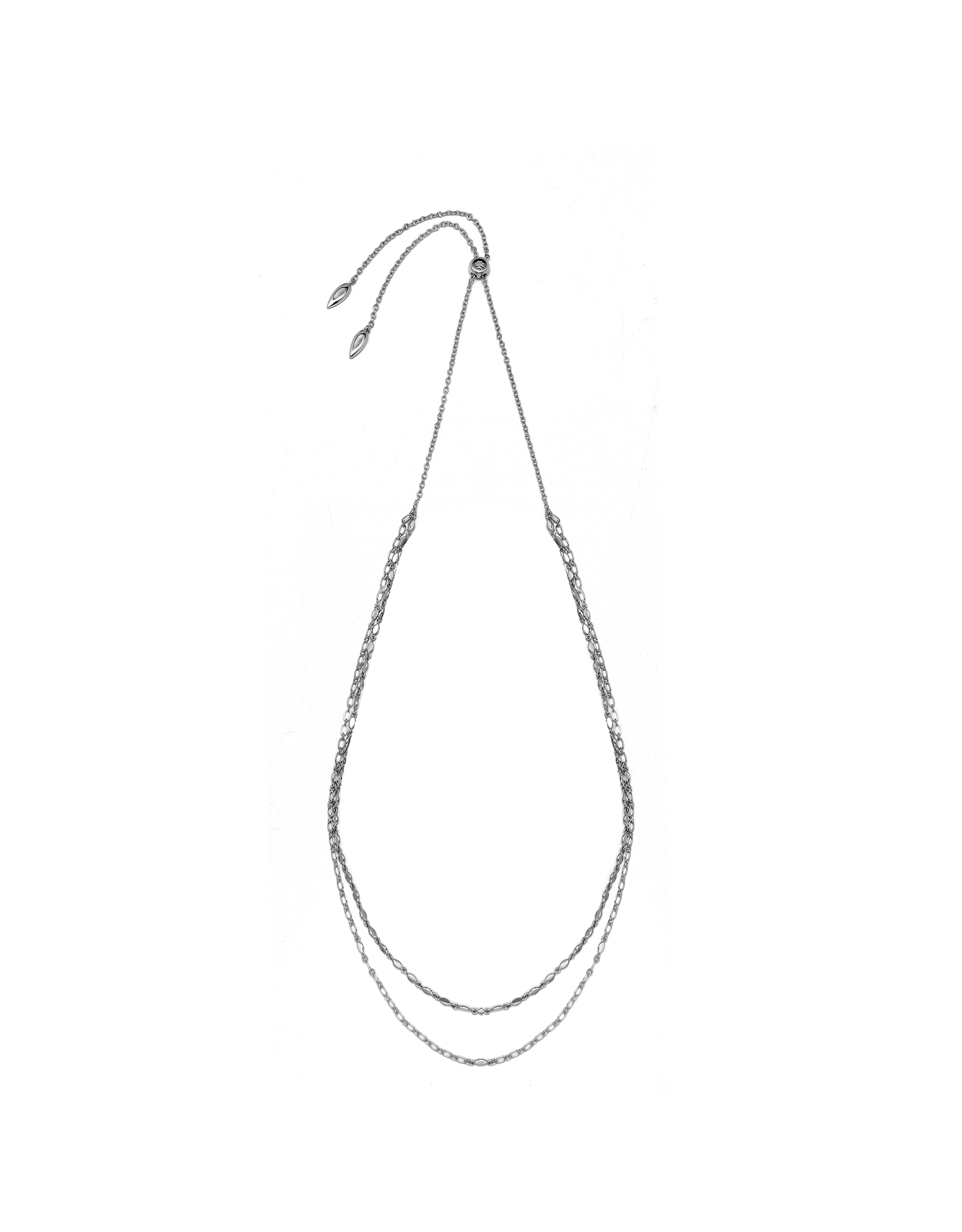 Natalie Wood Designs Blossom Adjustable Necklace - Silver