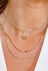 Natalie Wood Designs Blossom Adjustable Necklace - Gold