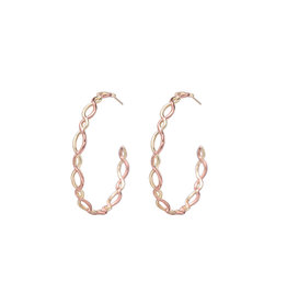 Natalie Wood Designs Bloom Hoop Earrings - Gold & Rose Gold