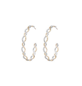 Natalie Wood Designs Bloom Hoop Earrings - Gold & Silver