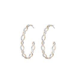 Natalie Wood Designs Bloom Hoop Earrings - Gold & Silver
