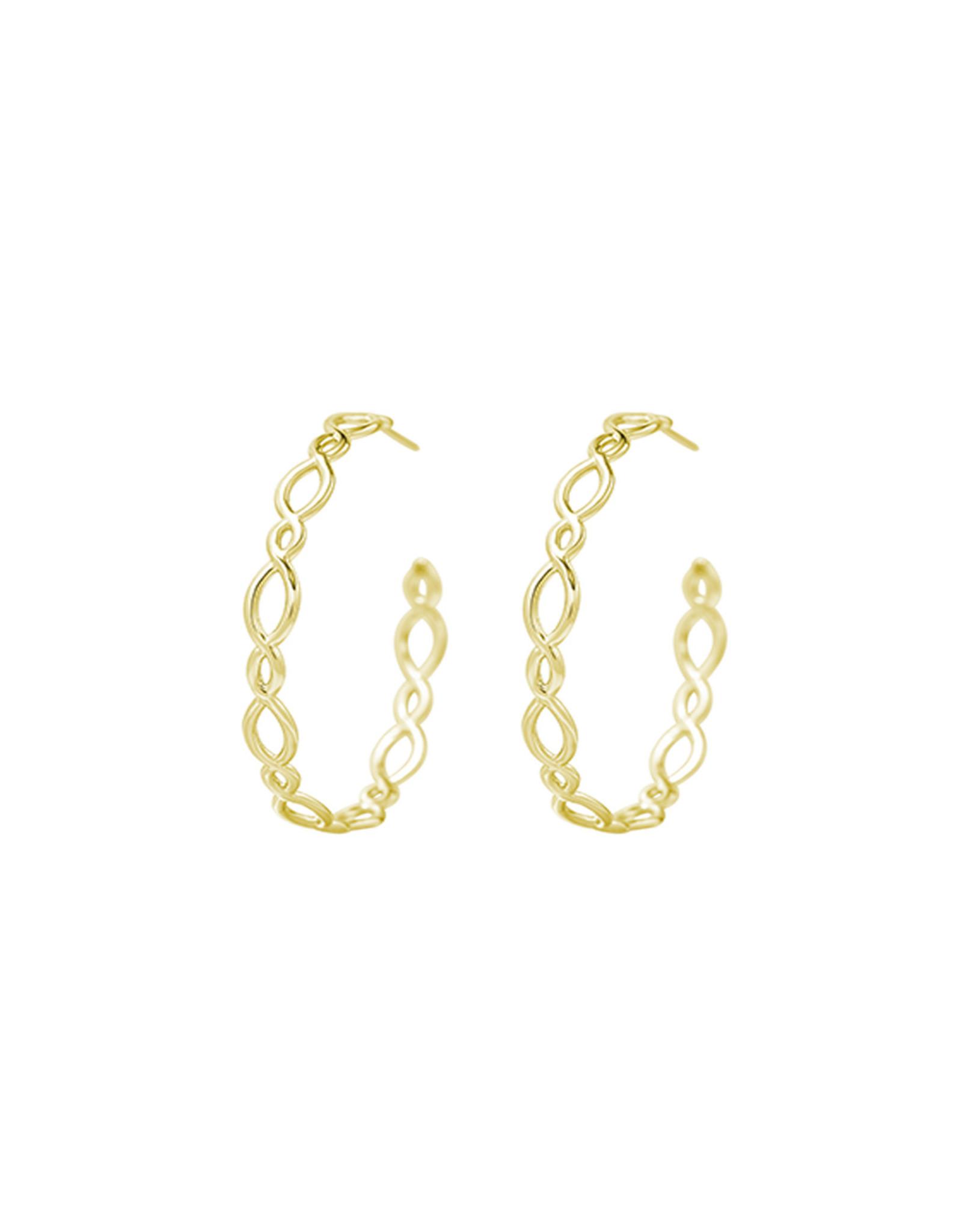 Natalie Wood Designs Bloom Hoop Earrings - Gold
