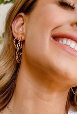 Natalie Wood Designs Bloom Mini Hoop Earrings - Silver