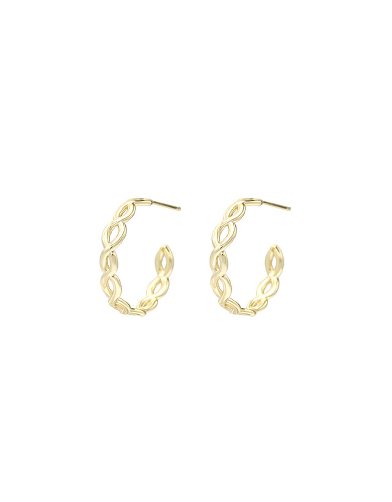 Natalie Wood Designs Bloom Mini Hoop Earrings - Gold