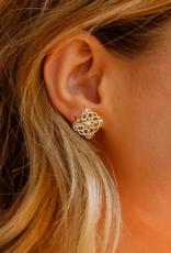 Natalie Wood Designs Bloom Stud Earrings - Rose Gold