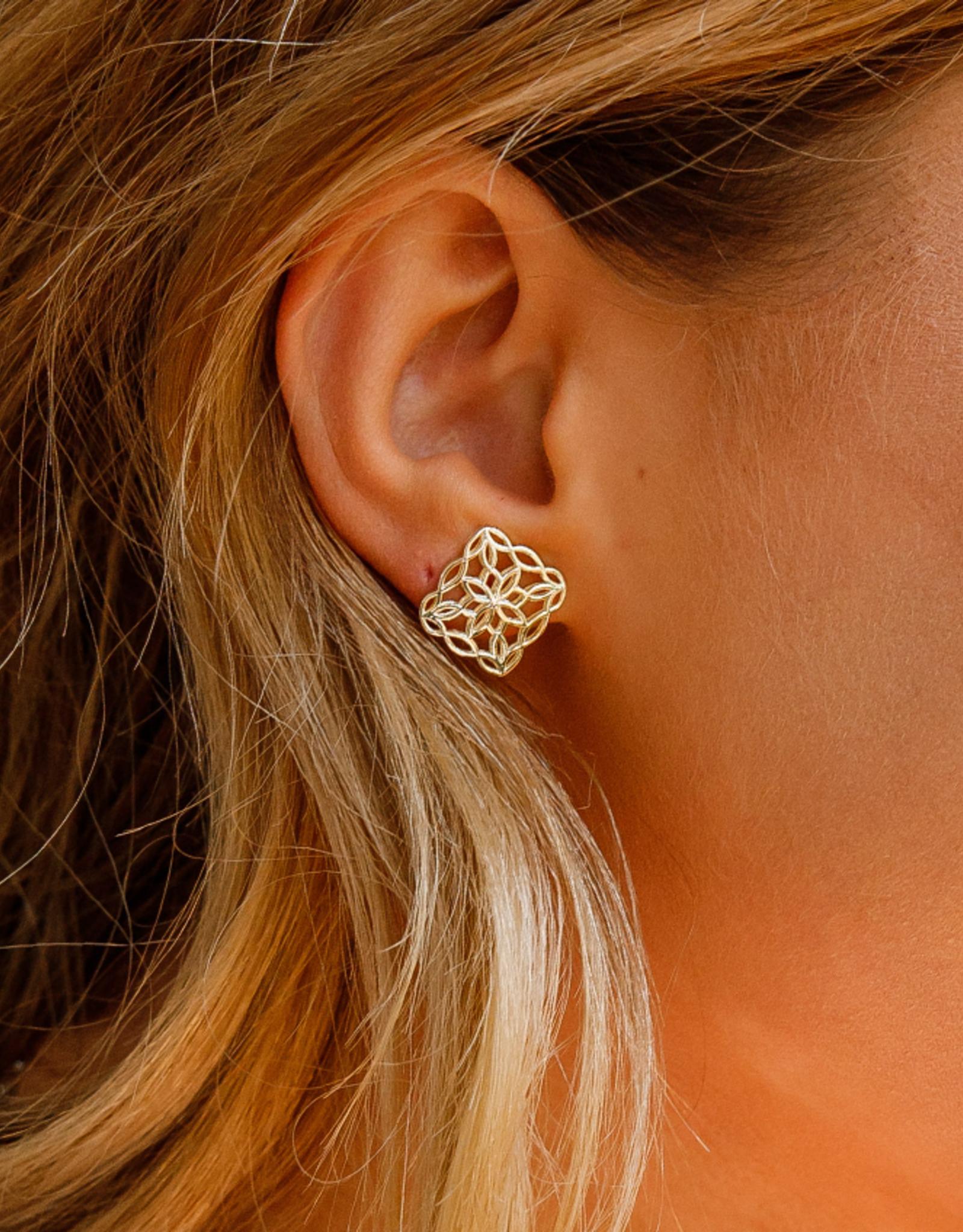 Natalie Wood Designs Bloom Stud Earrings - Silver