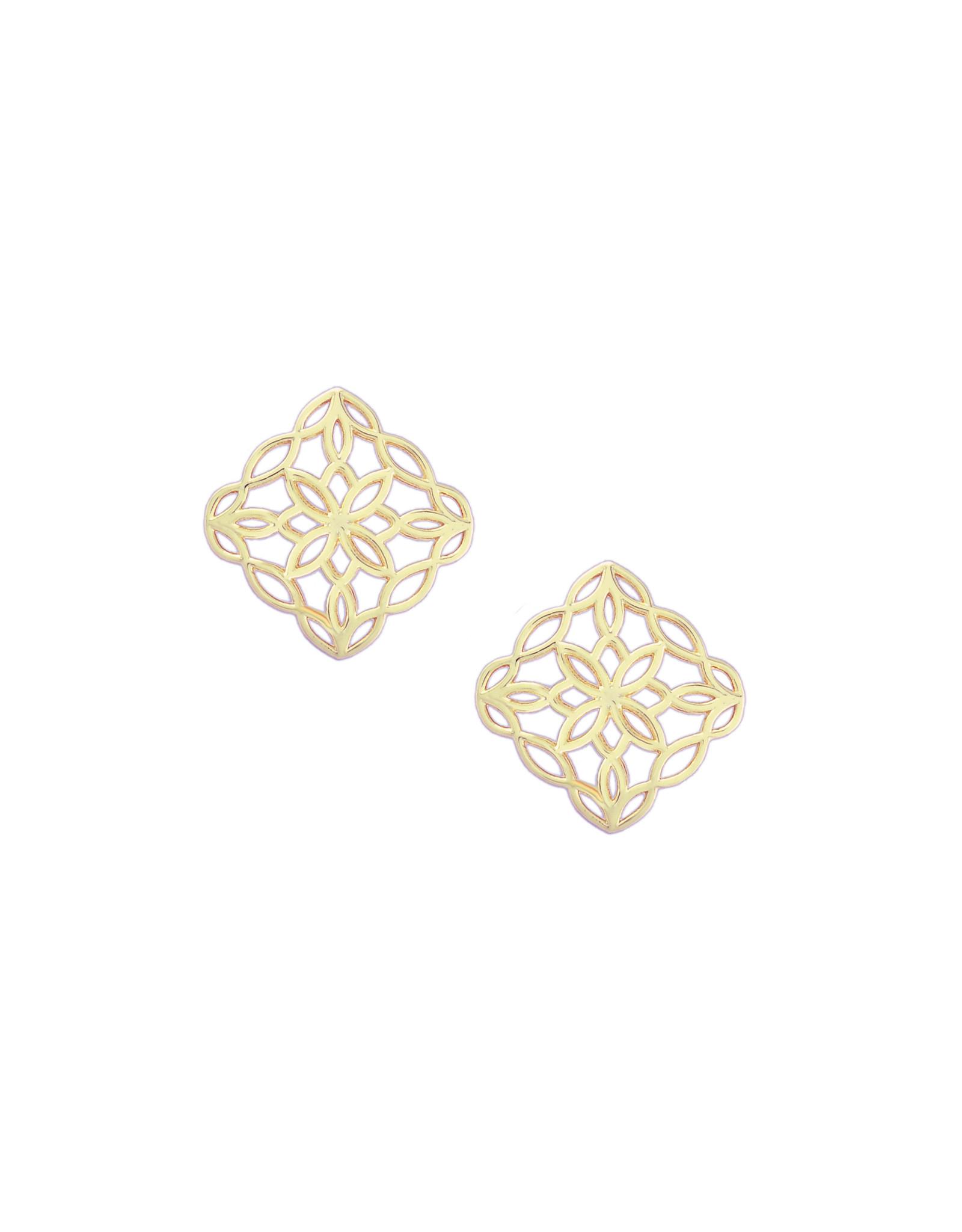 Natalie Wood Designs Bloom Stud Earrings - Gold