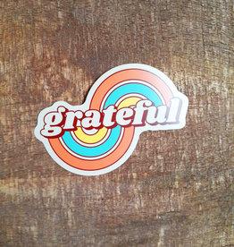 Grateful Arcs Large Sticker