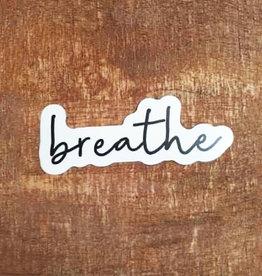 Breathe Large Sticker