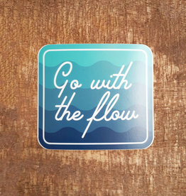 Go With The Flow Large Sticker