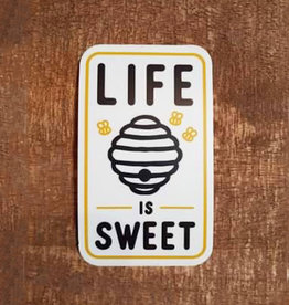 Life Is Sweet Beehive Large Sticker
