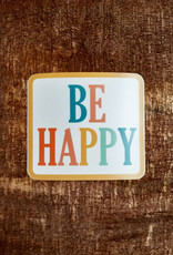 Be Happy Large Sticker