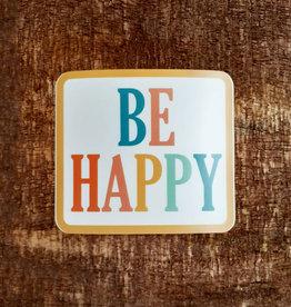 Be Happy Large Sticker