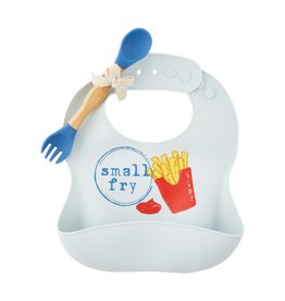 Mudpie Fries Silicone Bib and Spoon