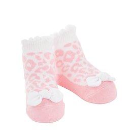 Mudpie Pink Leopard Socks