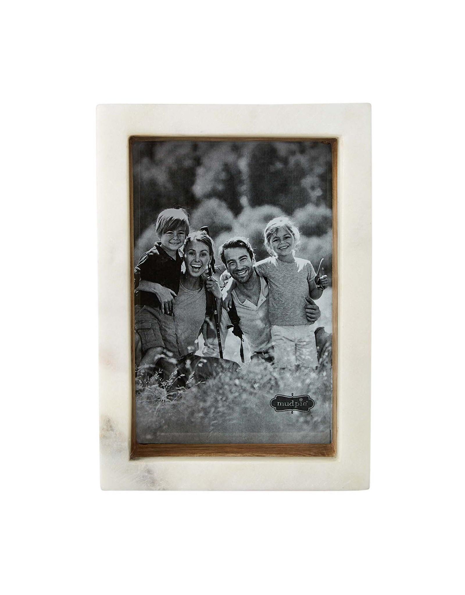 Mudpie 4x6 Wood Marble Shadow Frame