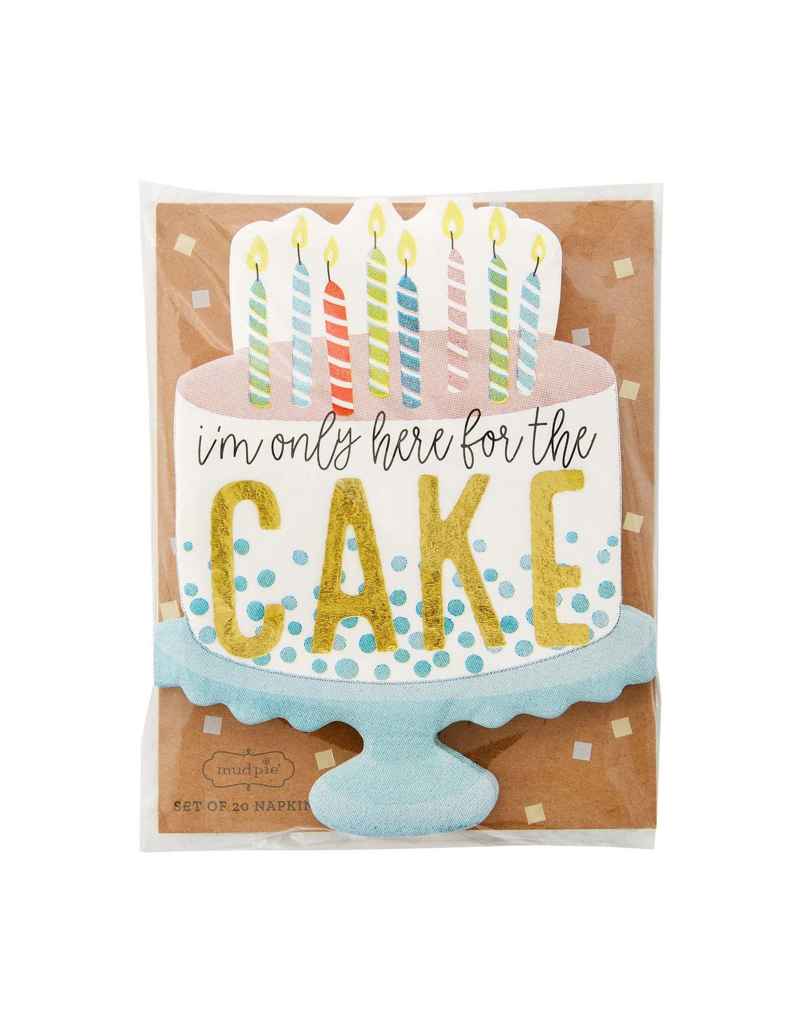 Mudpie Cake Birthday Napkin