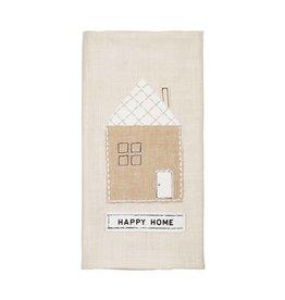 Mudpie Happy Home Applique Towel