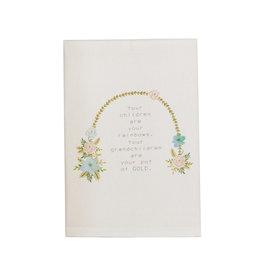 Mudpie Arch Grandma Floral Towel