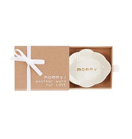 Mudpie Oval Mom Mini Trinket Dish