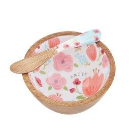 Mudpie Pink Floral Dip Set