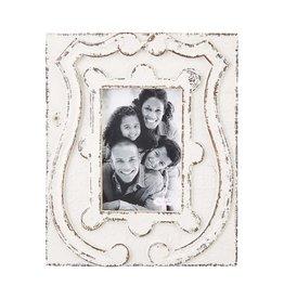 Mudpie 4x6 Antiqued Crest Frame