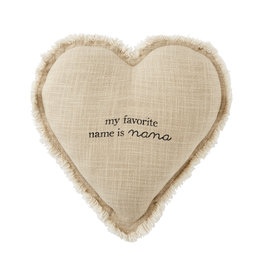 Mudpie Nana Heart Pillow