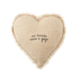Mudpie Gigi Heart Pillow