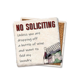 No Soliciting Coaster