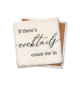 Cocktails Count Me In Coaster