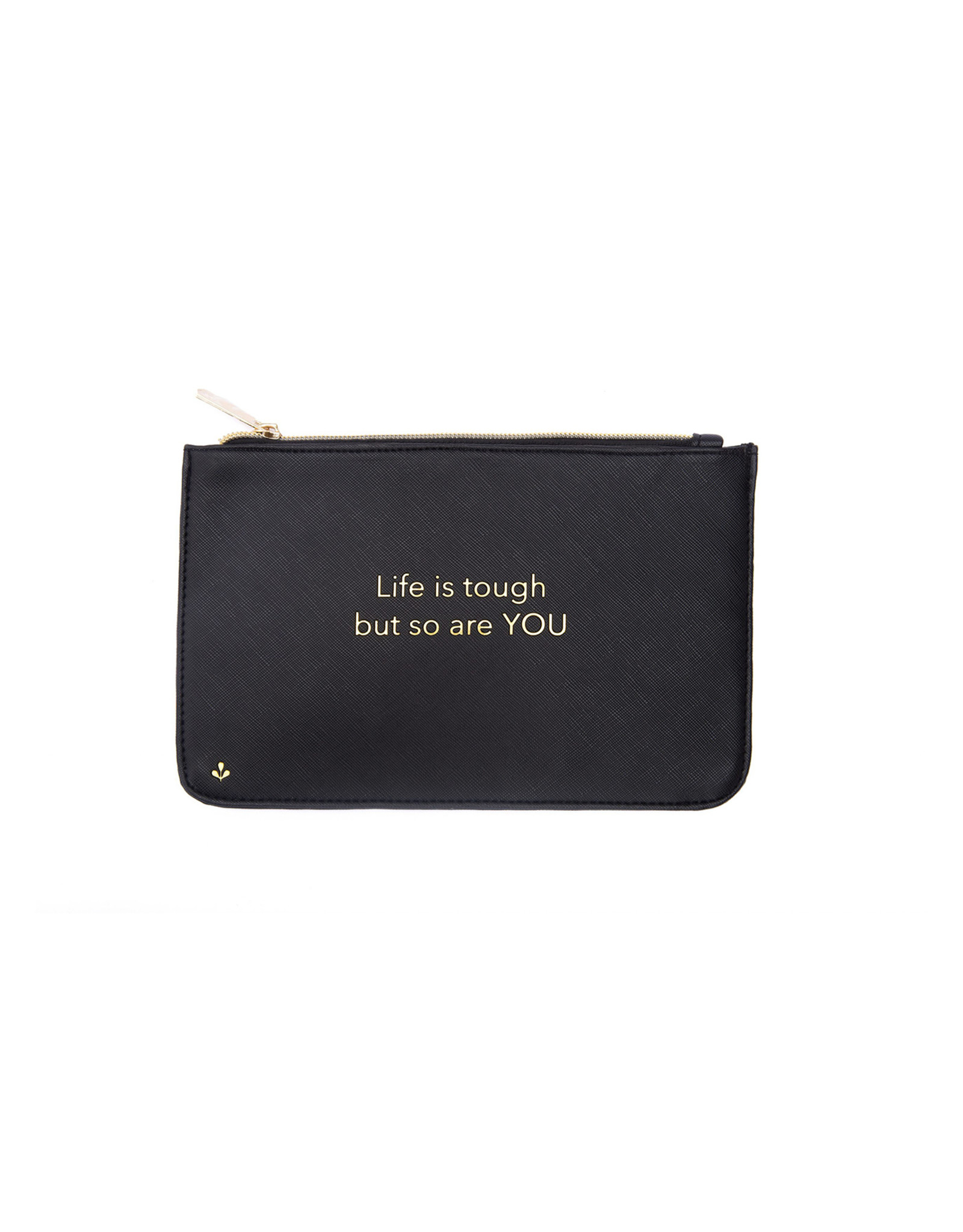 Splendid Iris 8x5 Zipper Pouch - Life Is Tough - Black