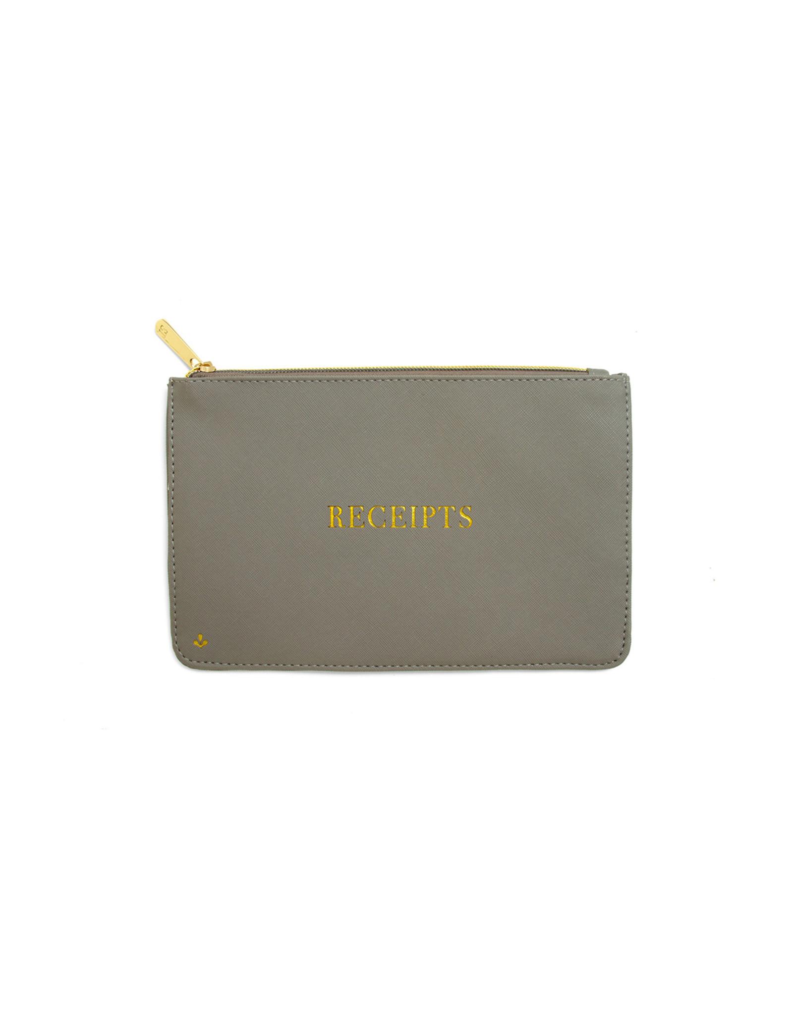 Splendid Iris 8x5 Zipper Pouch - Receipts - Grey