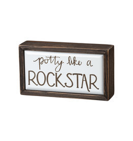 Rock Star Box Sign