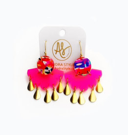 Audra Style Ruth Earrings - Abstract Neon Pink