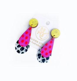 Audra Style Rebekah Earrings - Pink Red Dot