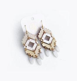 Audra Style Naomi Earrings - Pearl Snake