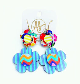 Audra Style Flora Earrings - Abstract Daddy's Tie