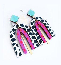 Audra Style Dorothy Earrings - Black Dot