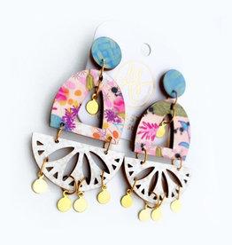 Audra Style Dawson Earrings - GGB Blush Taupe Damask